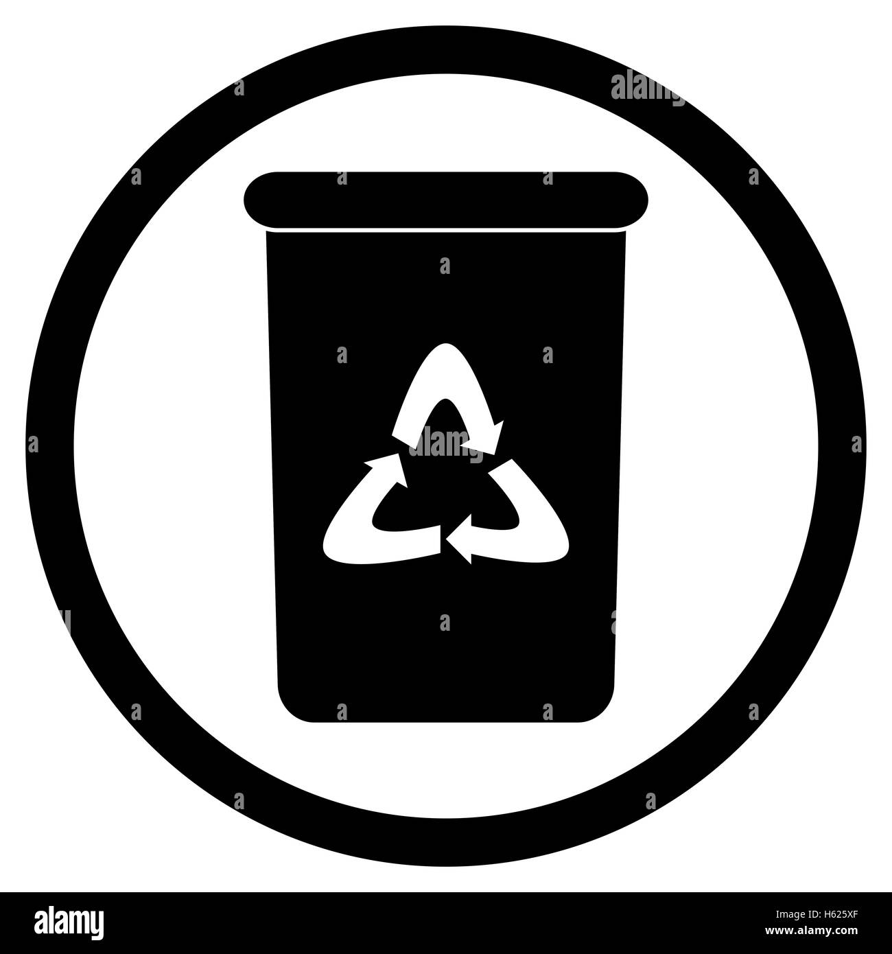 bin icon black recycle and trash can rubbish bin and