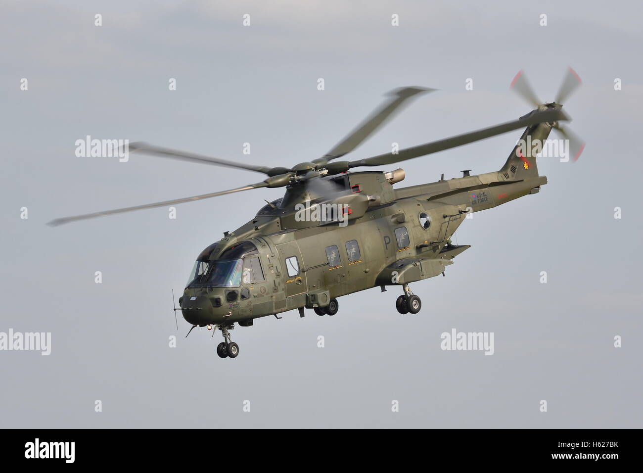 Royal Navy Agusta Westland EH101 Merlin HC.3 ZJ131 helicopter at Abingdon Air & Country show 2014 - Stock Image