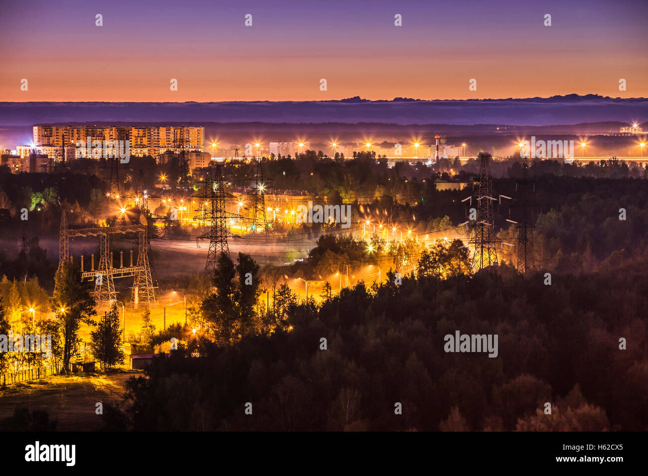 Russia, Saint Petersburg, view to satellite town at the outskirts - Stock Image