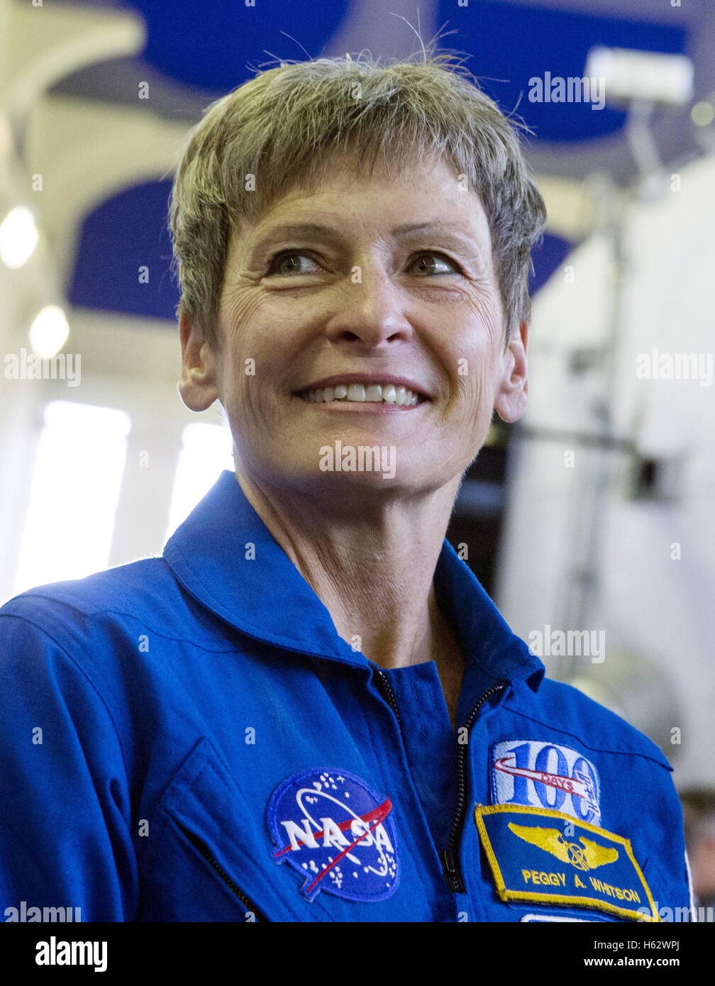 Moscow Region, Russia. 24th Oct, 2016. ISS Expedition 49/50 main crew member, astronaut Peggy Annette Whitson (NASA)poses - Stock Image