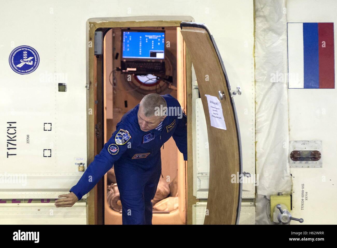 Moscow Region, Russia. 24th Oct, 2016. ISS Expedition 49/50 main crew member, cosmonaut Oleg Novitsky (Roscosmos) - Stock Image
