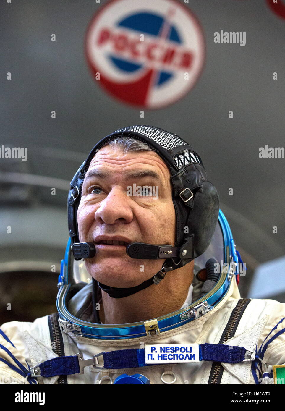 Moscow Region, Russia. 24th Oct, 2016. ISS Expedition 49/50 backup crew member, astronaut Paolo Nespoli (ESA) in - Stock Image