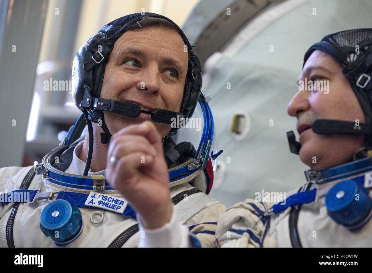 Moscow Region, Russia. 24th Oct, 2016. ISS Expedition 49/50 backup crew members, astronaut Jack D. Fischer (NASA) - Stock Image