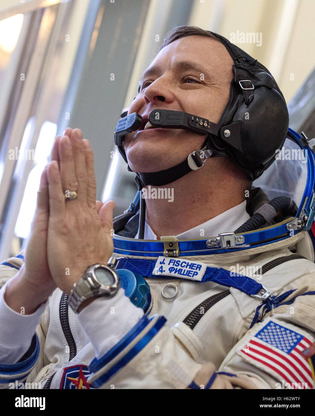 Moscow Region, Russia. 24th Oct, 2016. ISS Expedition 49/50 backup crew member, astronaut Jack D. Fischer (NASA) - Stock Image