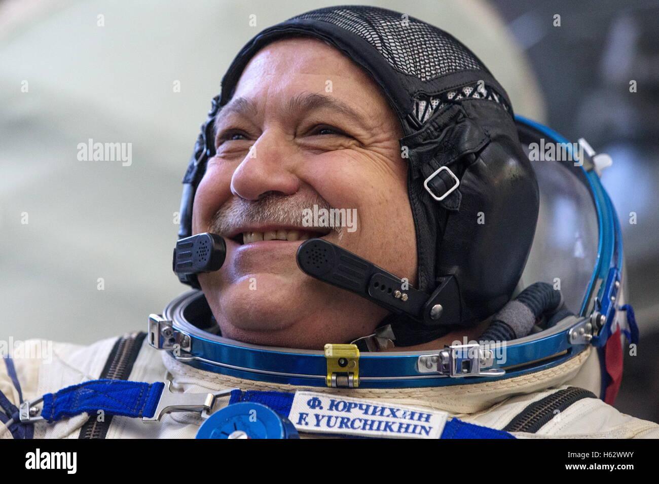 Moscow Region, Russia. 24th Oct, 2016. ISS Expedition 49/50 backup crew member, cosmonaut Fyodor Yurchikhin (Roscosmos) - Stock Image
