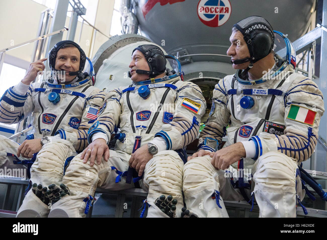 Moscow Region, Russia. 24th Oct, 2016. ISS Expedition 49/50 backup crew members, astronaut Jack D. Fischer (NASA), - Stock Image