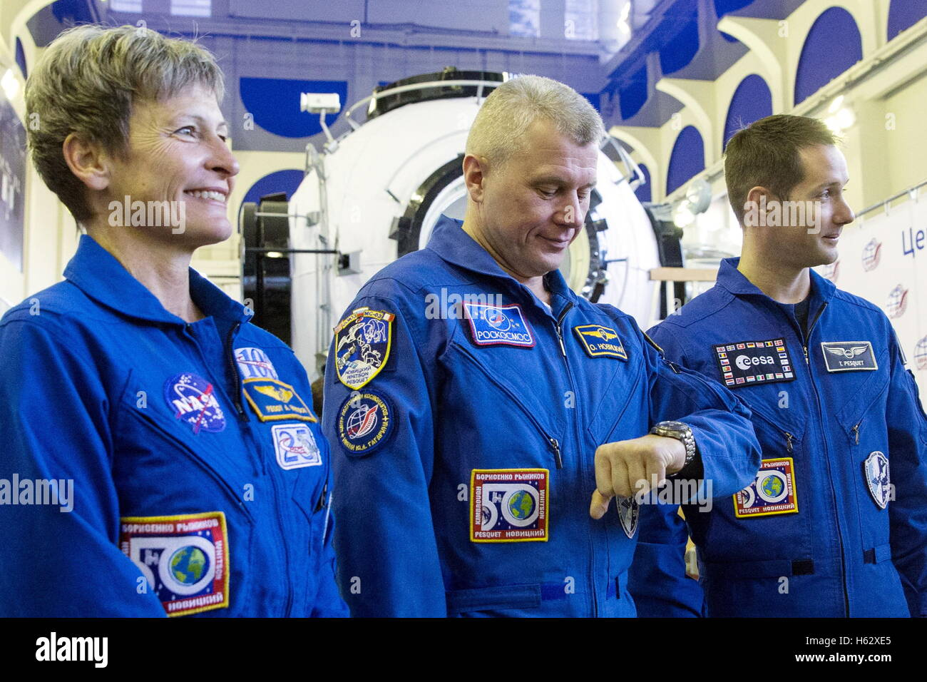 Moscow Region, Russia. 24th Oct, 2016. ISS Expedition 49/50 main crew members, astronaut Peggy Annette Whitson (NASA), - Stock Image