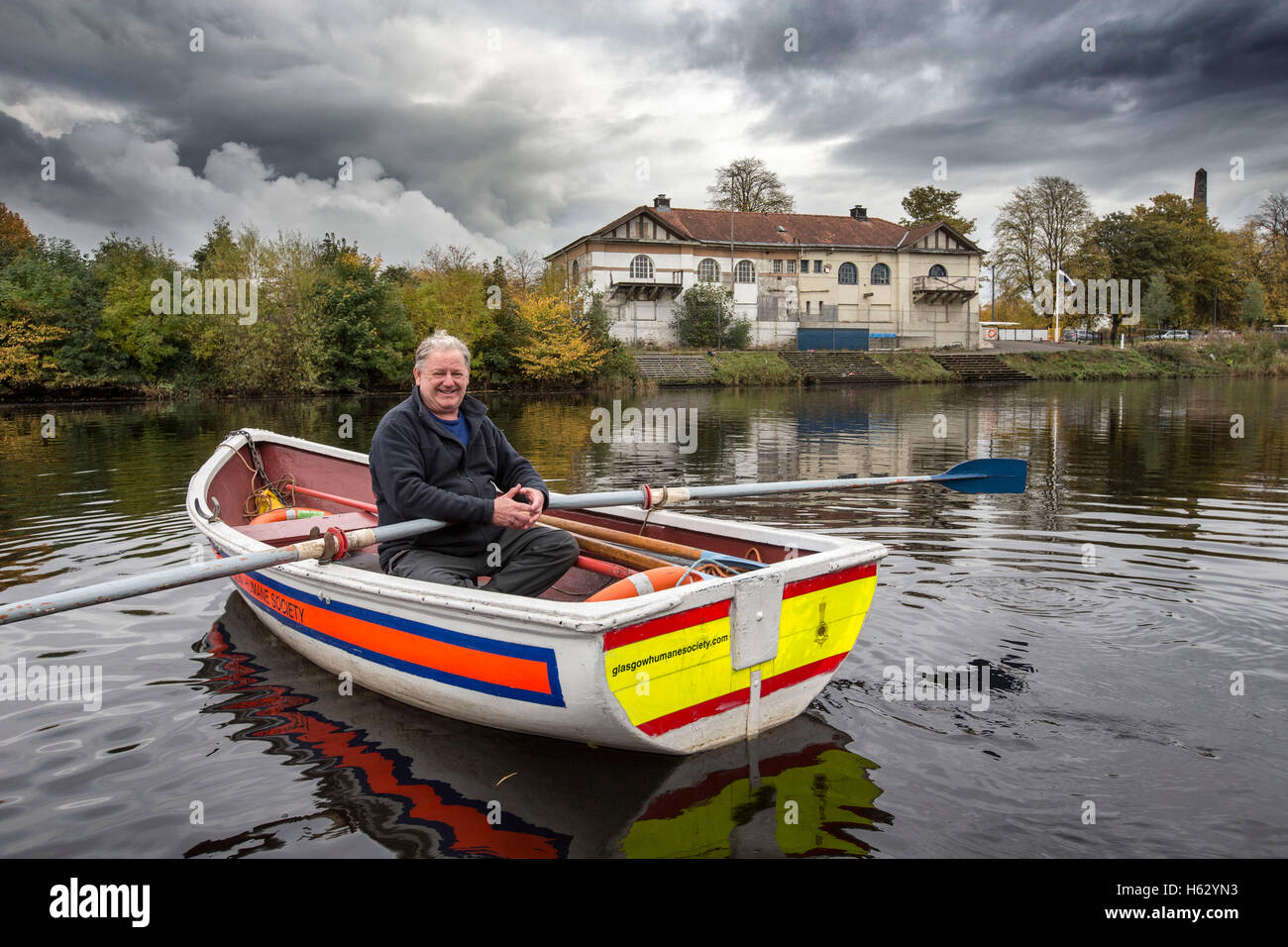 Glasgow Humane Society on river Clyde - Stock Image