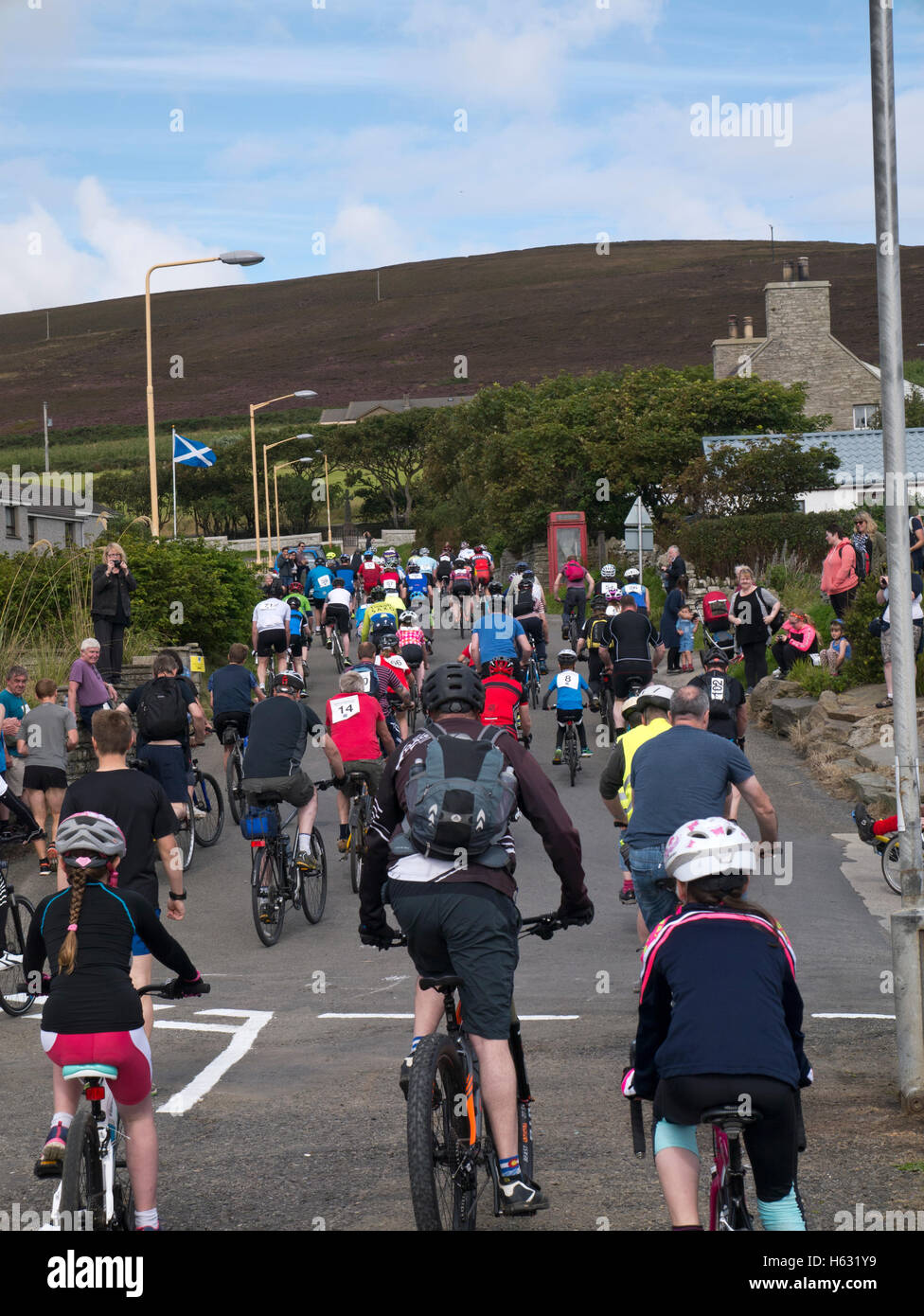 The annual Rousay Lap cycle on the Orkney isles - Stock Image