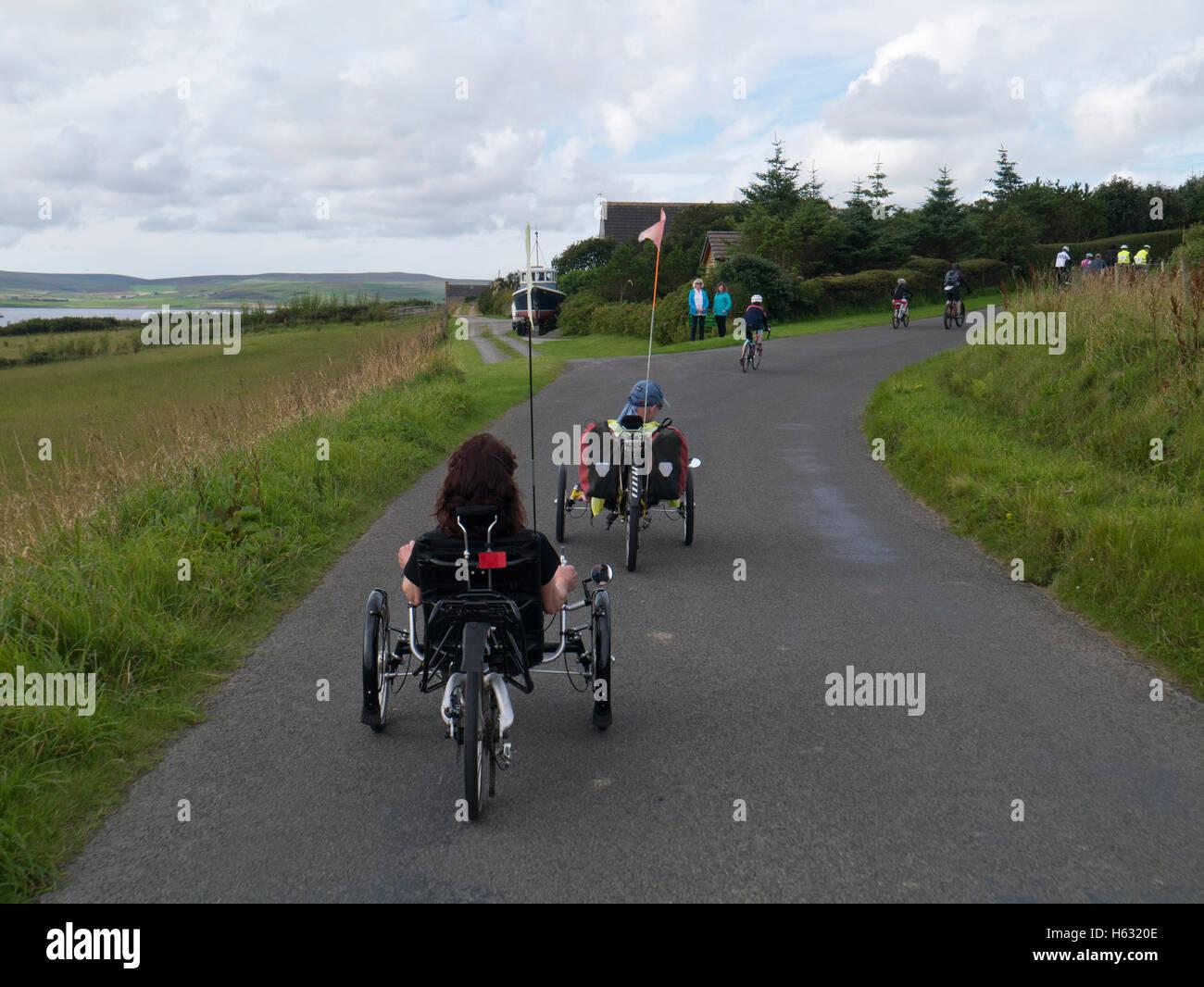 Recumbent tricycles - Stock Image