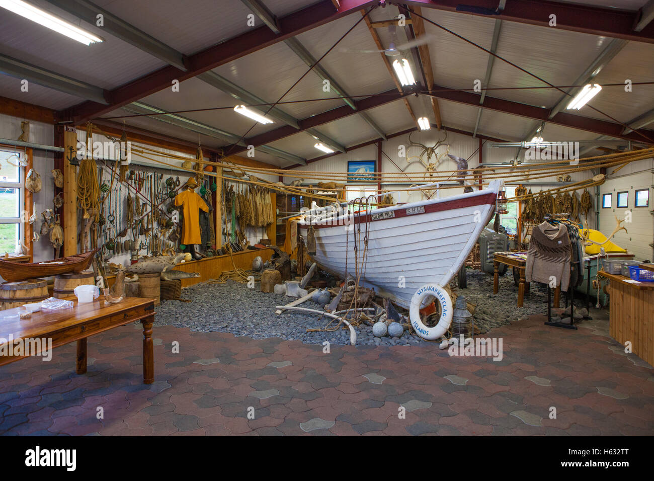 Shark Fishing Museum Stock Photo