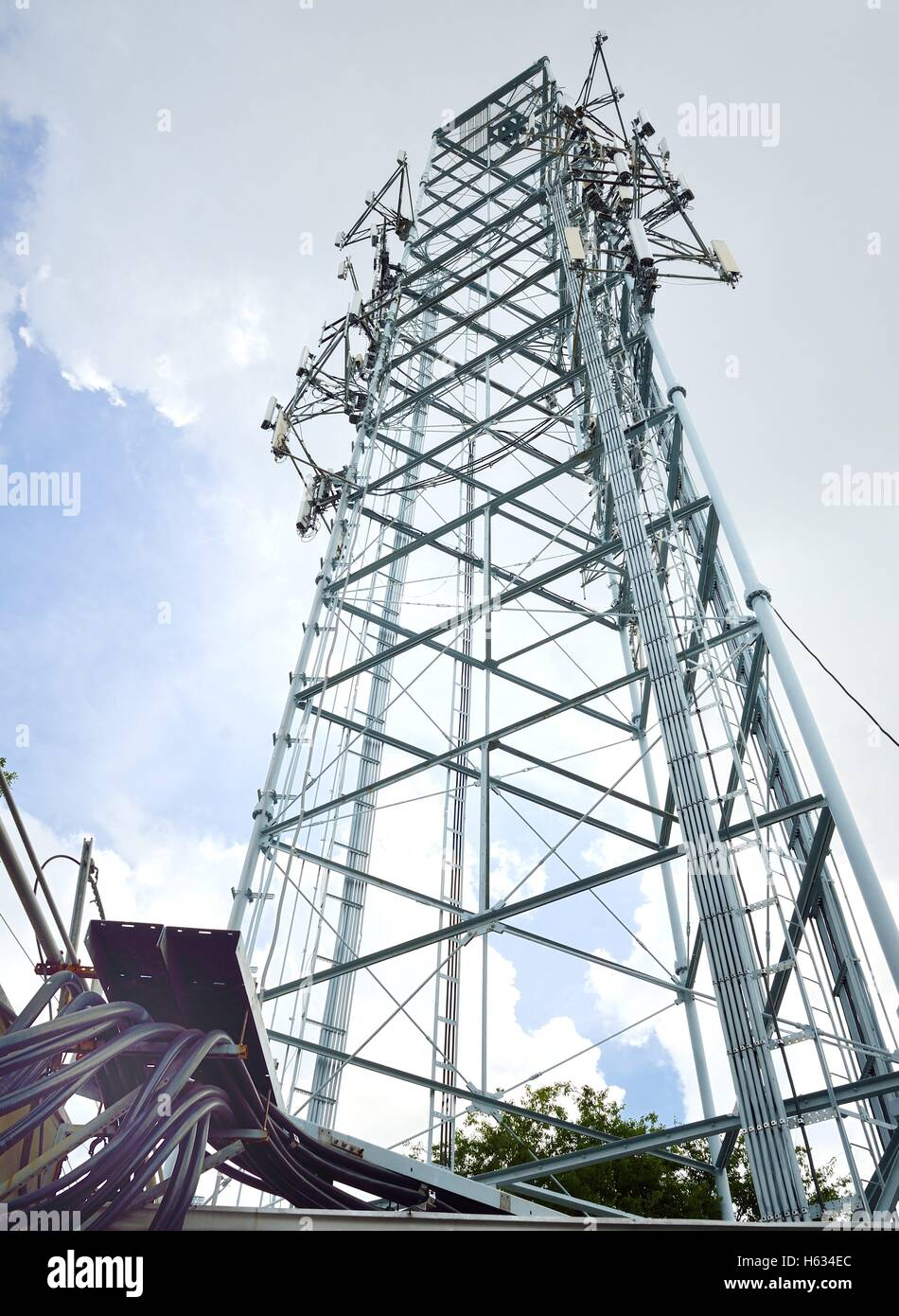 Cell Phones Tower - Stock Image