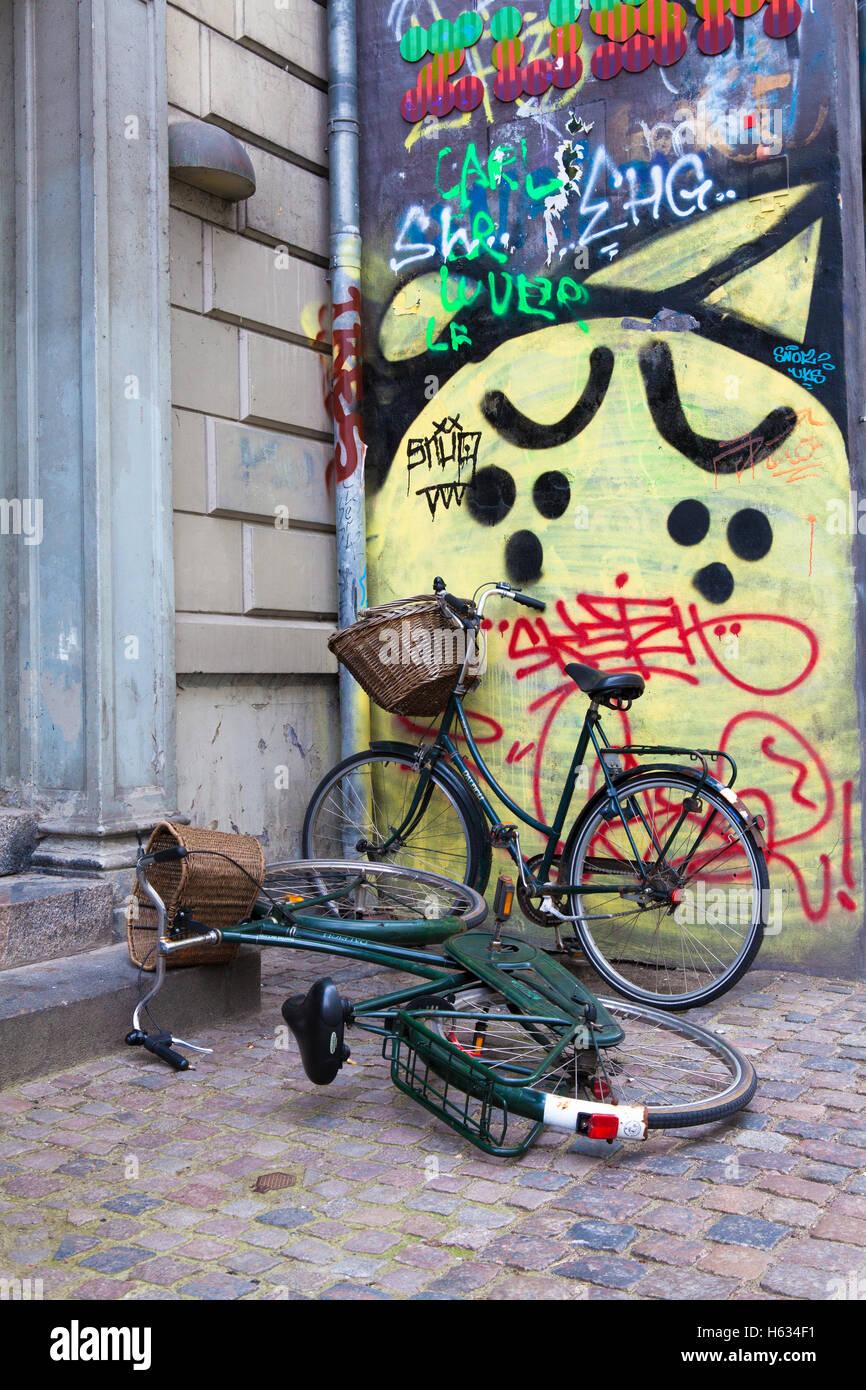 Bikes, Copenhagen - Stock Image