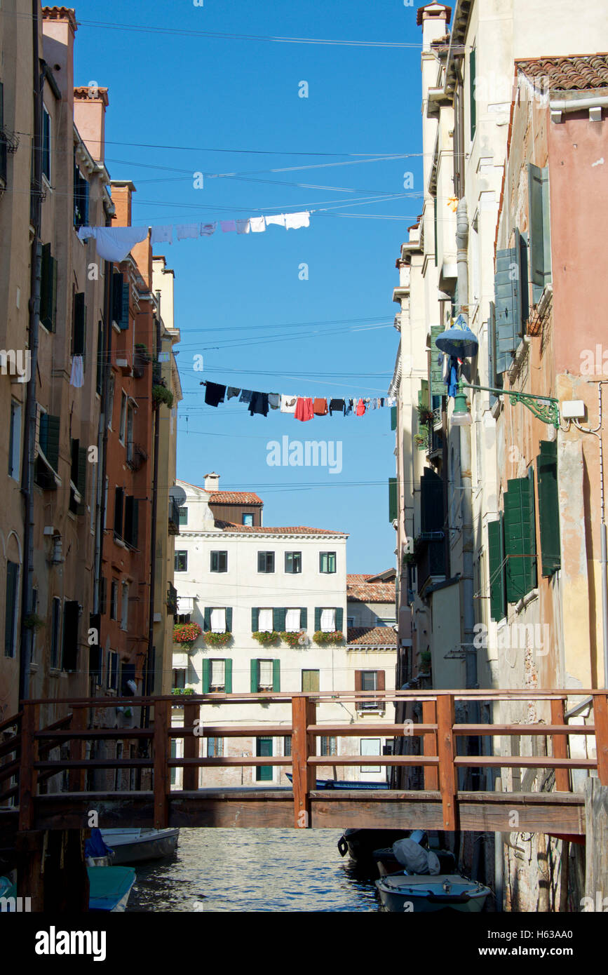 Tall houses in the original Jewish Ghetto in Venice, Italy - Stock Image