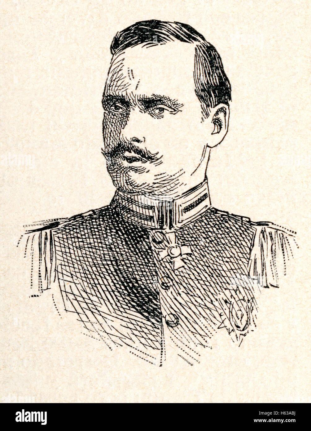 Ernest Louis Charles Albert William, nicknamed Ernie, 1868 – 1937.  Last Grand Duke of Hesse and by Rhine. Stock Photo