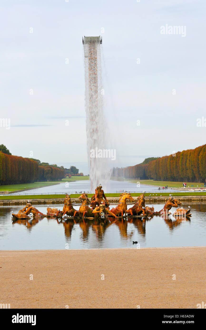 Gardens of Versailles, Palace of Versailles, UNESCO World Heritage Site, Yvelines, Region Ile-de-France, France.Apollo - Stock Image