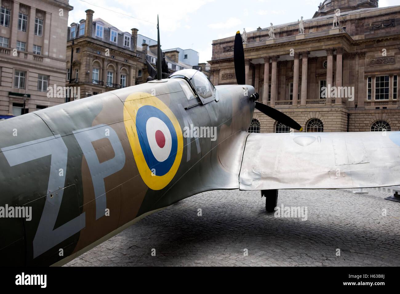 Old Spitfire Plane - Stock Image