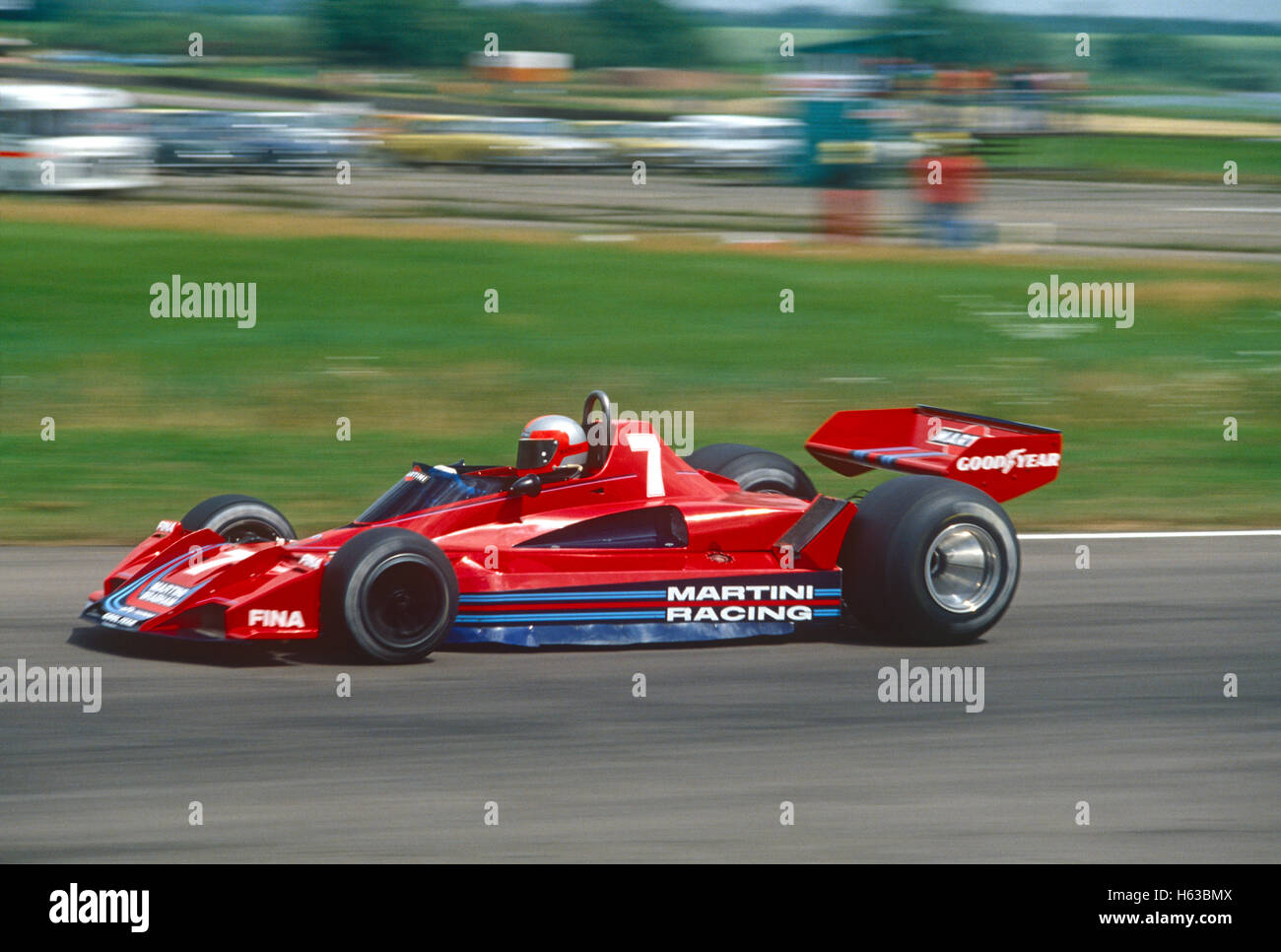 John Watson driving Brabham BT45 Alfa Romeo racing car in 1978 - Stock Image