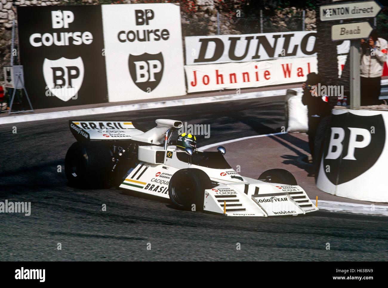 Brabham BT42 racing car Monaco Grand Prix - Stock Image
