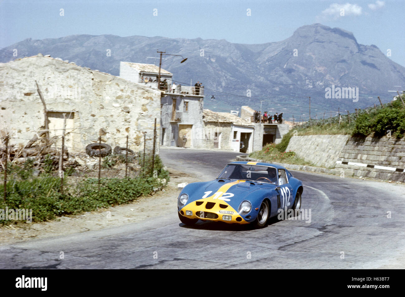 112 Ulf Norinder, Picko Troberg in a Ferrari 250 GTO finished 9th in the Targa Florio 26 April 1964 - Stock Image