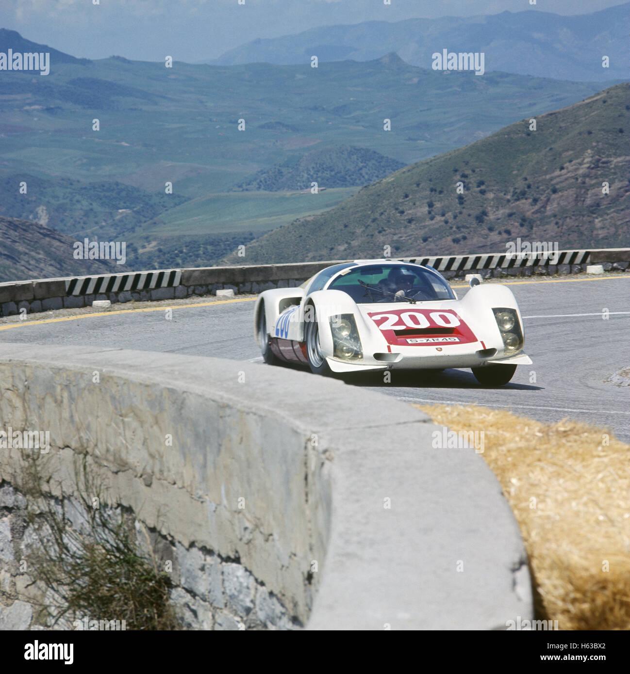 200 Hans Herrmann and Dieter Glemser in a  Porsche 906 retired from the Targa Florio 8 May 1966 - Stock Image