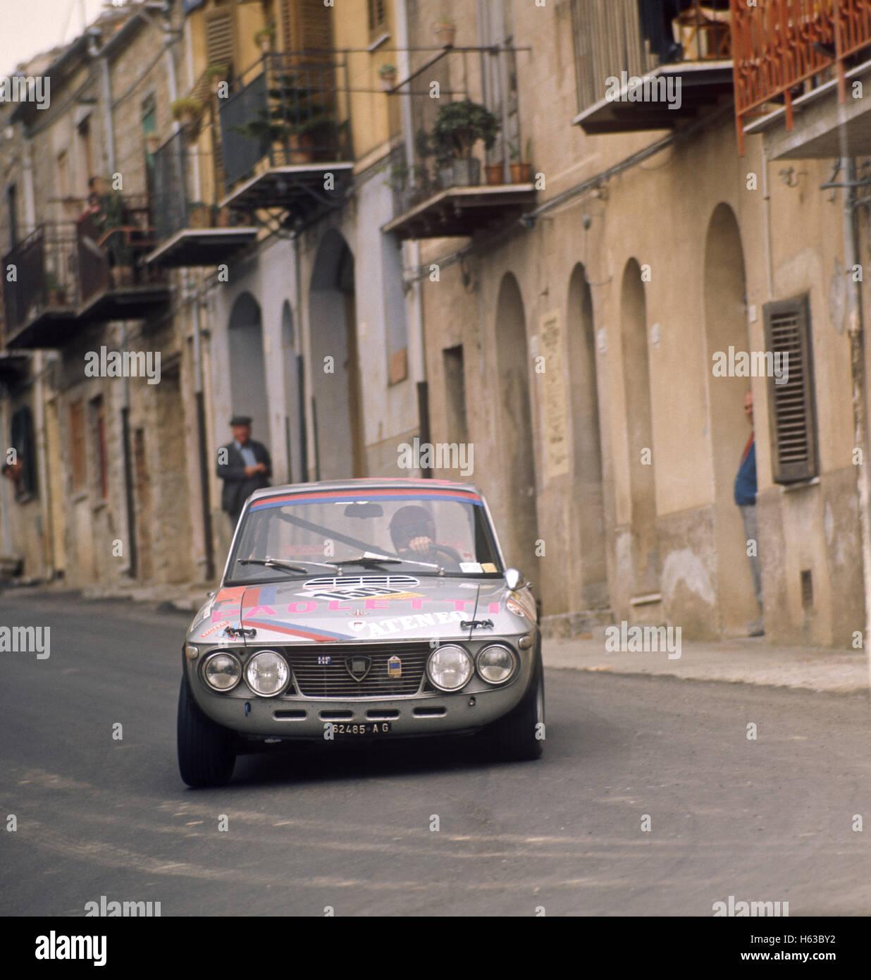 159 Giovanni Rizzo and Settimino Balistreri in a  Lancia Fulvio finished 30th in the Targa Florio 13 May 1973 - Stock Image