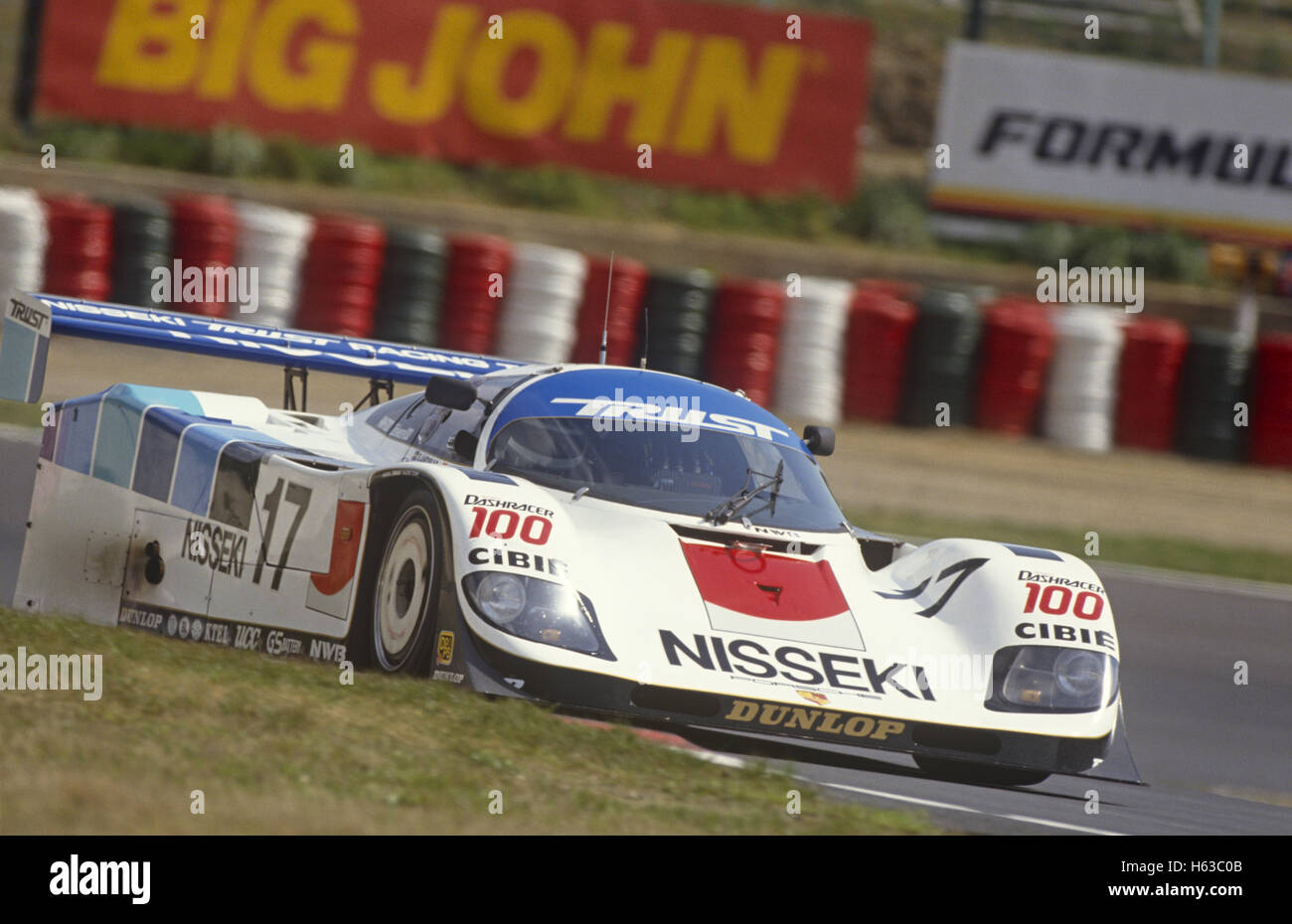George Fouché and Steven Andskar Porsche 962 C GTi entered by Brun Motorsport Trust Racing Team1990 - Stock Image