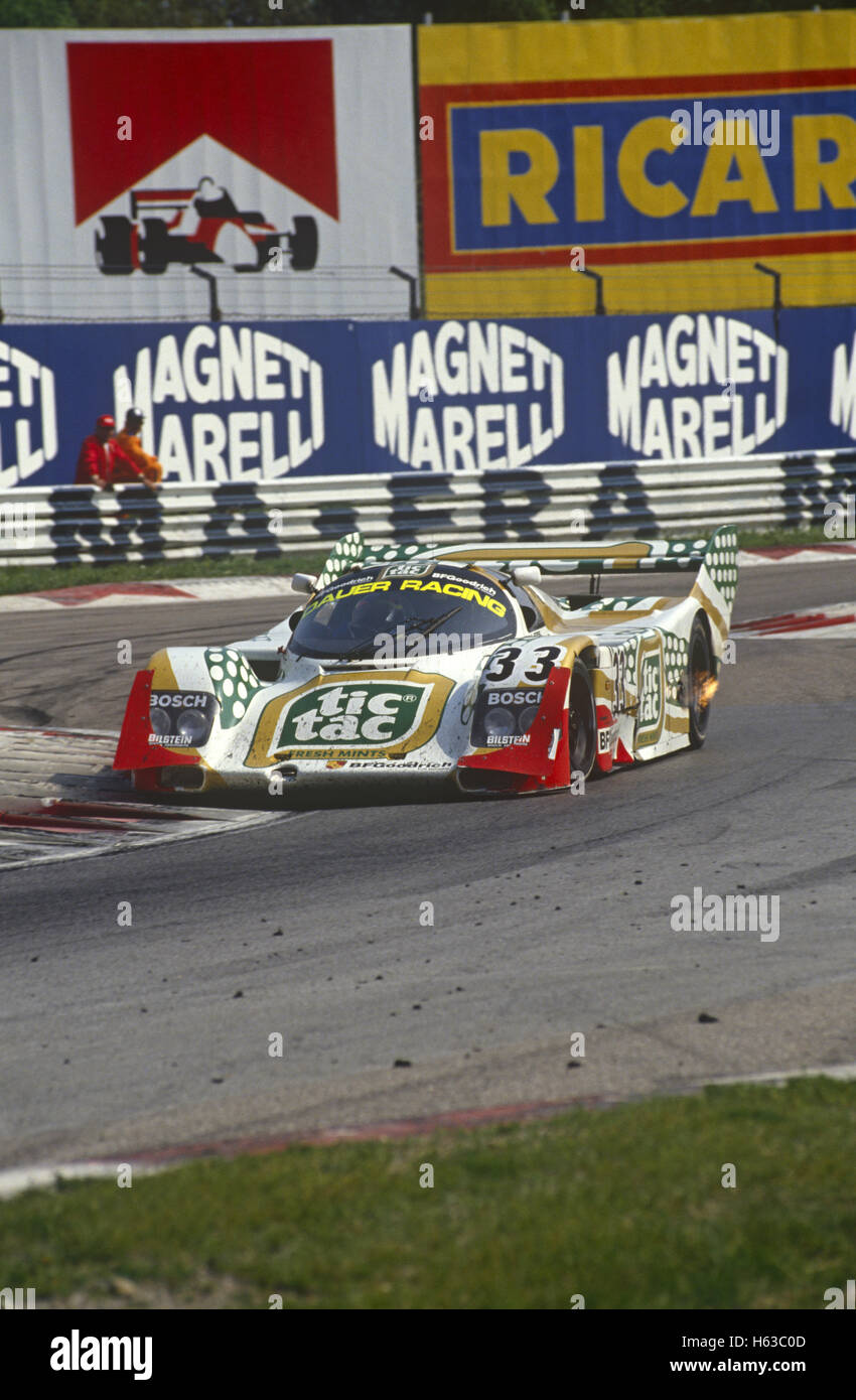 Raul Boesel Porsche 962C entered by Konrad Motorsport Dauer Racing 1990 - Stock Image