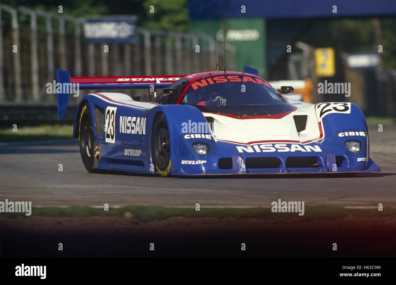 Julian Bailey and Kenny Acheson Nissan R90CK entered by Nissan Motorsports International 1990 - Stock Image