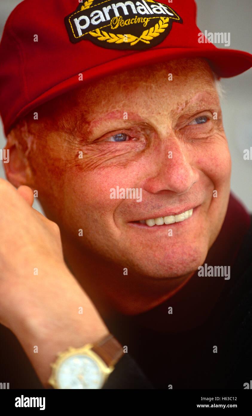 Portrait of Niki Lauda 1990s - Stock Image