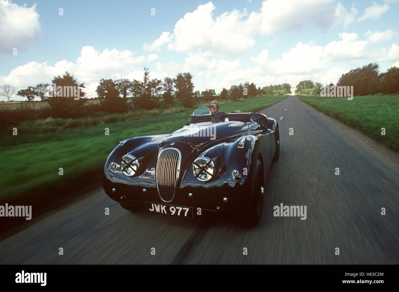 1951 Jaguar XK120 Alloy works car - Stock Image