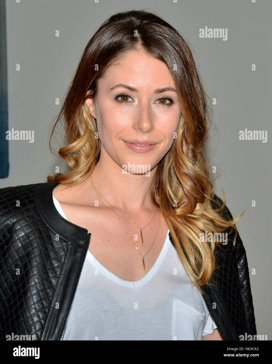 Amanda Crew attends the BCBG Max Azria Resort 2016 collections Stock ... ceaf1c76e