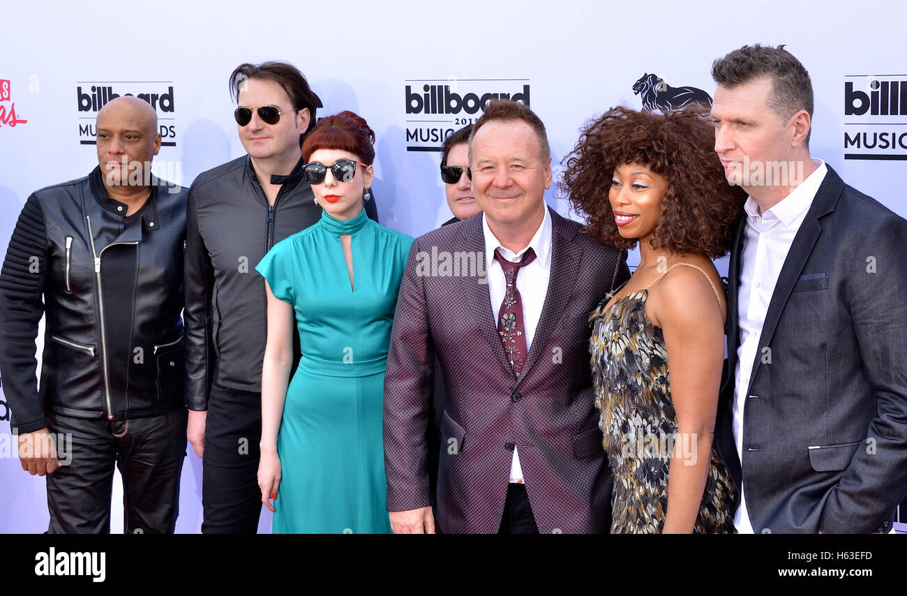 Simple Minds at the 2015 Billboard Music Awards at the MGM Grand Garden Arena - Stock Image
