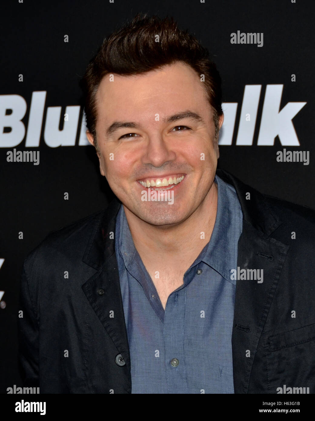 Seth MacFarlane arrived at the STARZ Presents the Los Angeles Premiere of 'BLUNT TALK' - Stock Image