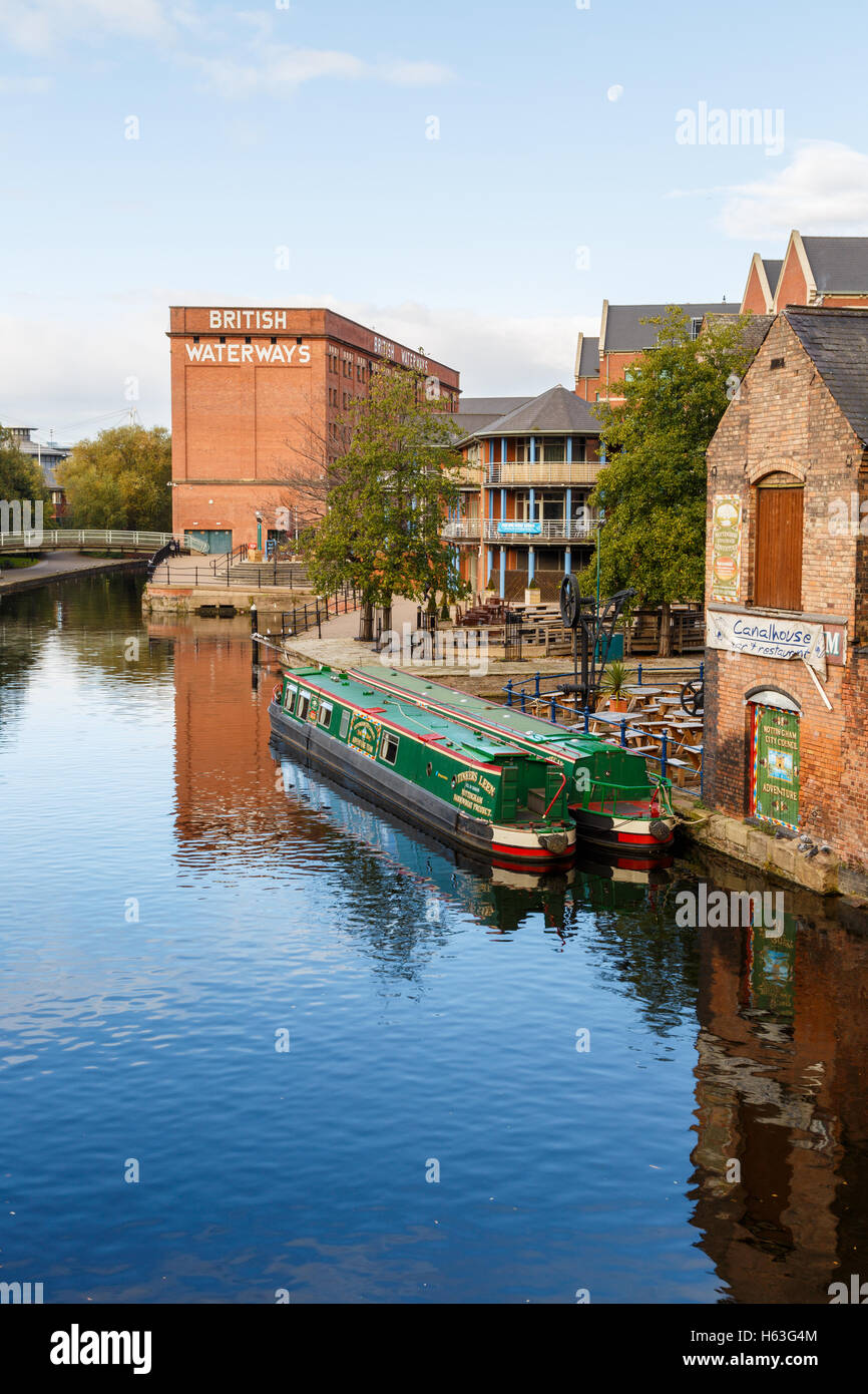 Nottingham canal and British Waterways building. In Nottingham, England. - Stock Image