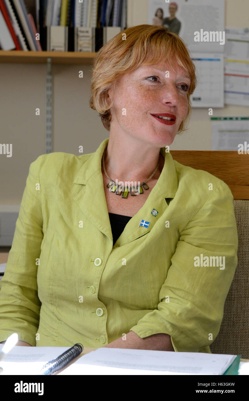 Ann Black Chief Executive of Shetland Charitable Trust which runs the trust from money made from oil Sullom Voe - Stock Image