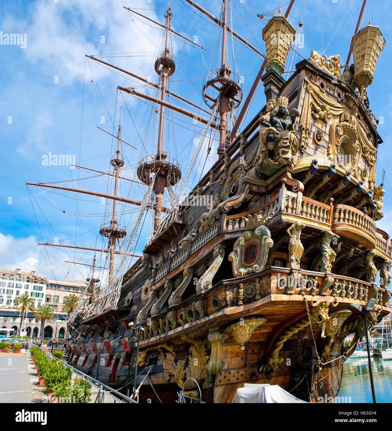 the galeon neptune is a ship replica of a 17th century spanish stock
