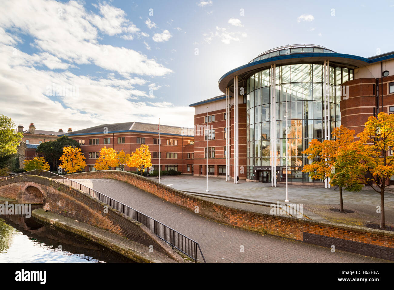 Nottingham Magistrates court. In Nottingham, England. - Stock Image