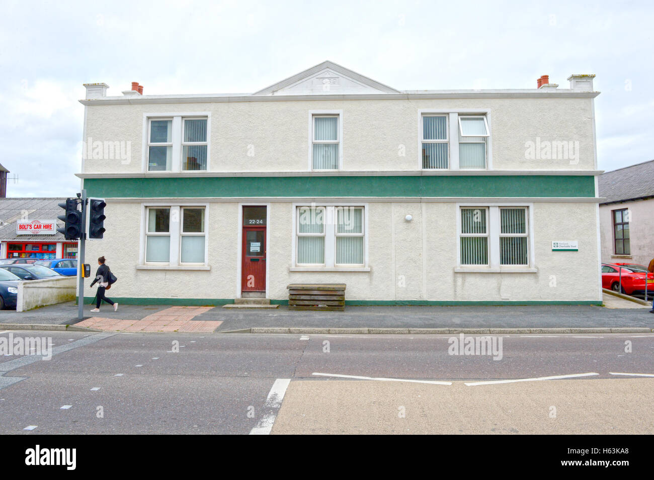Shetland Charitable Trust offices which runs the trust from money made from oil Sullom Voe oil terminal - Stock Image