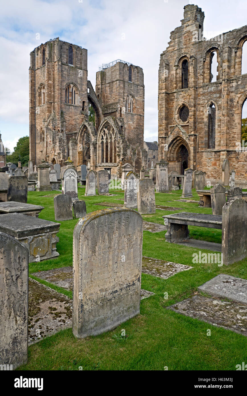 View from the graveyard of Elgin Cathedral in Elgin, Morayshire, Scotland, UK. - Stock Image