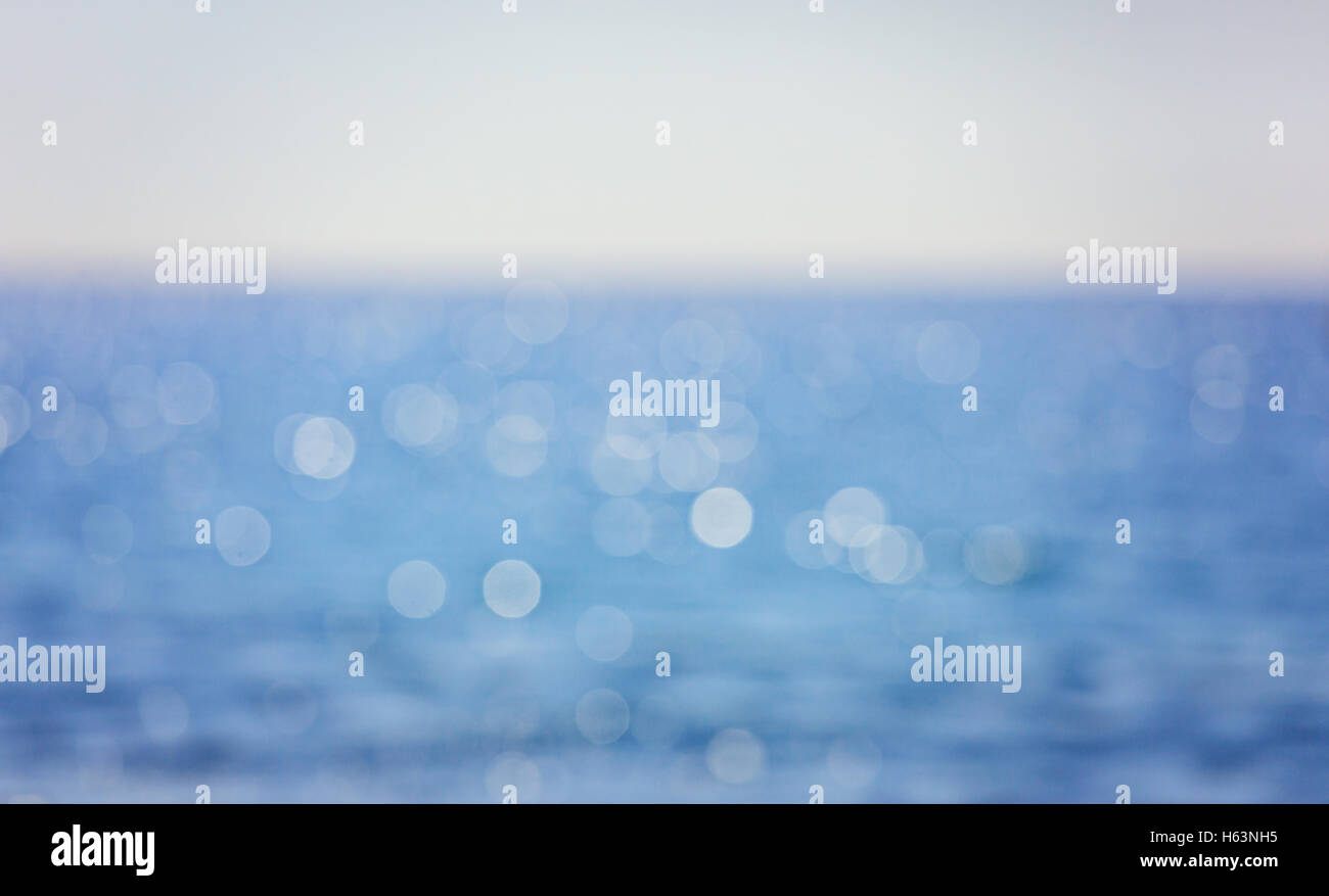 Background with candid bokeh over sea background - Stock Image