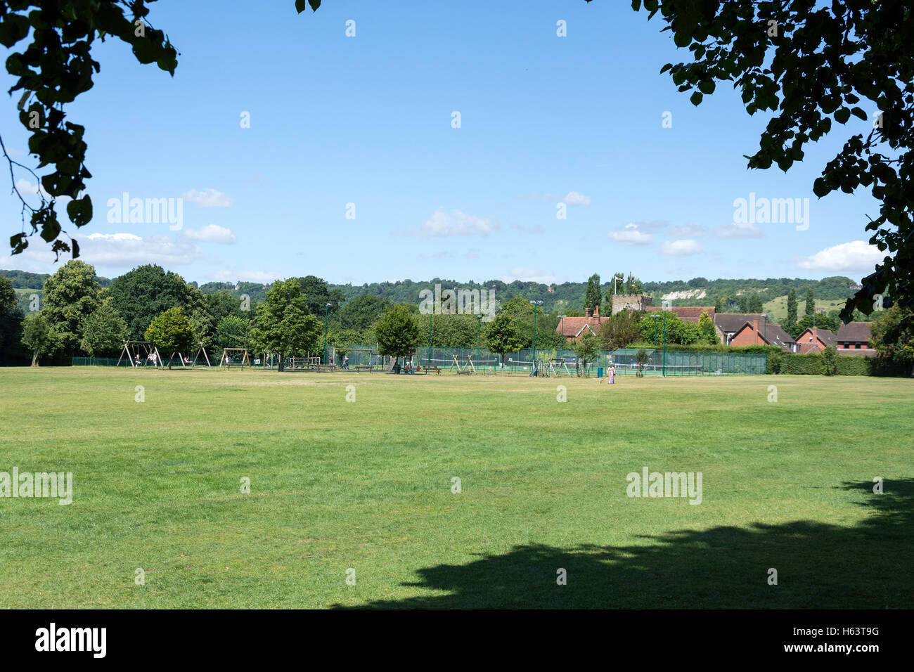 Master Park, Church Lane, Oxted, Surrey, England, United Kingdom - Stock Image
