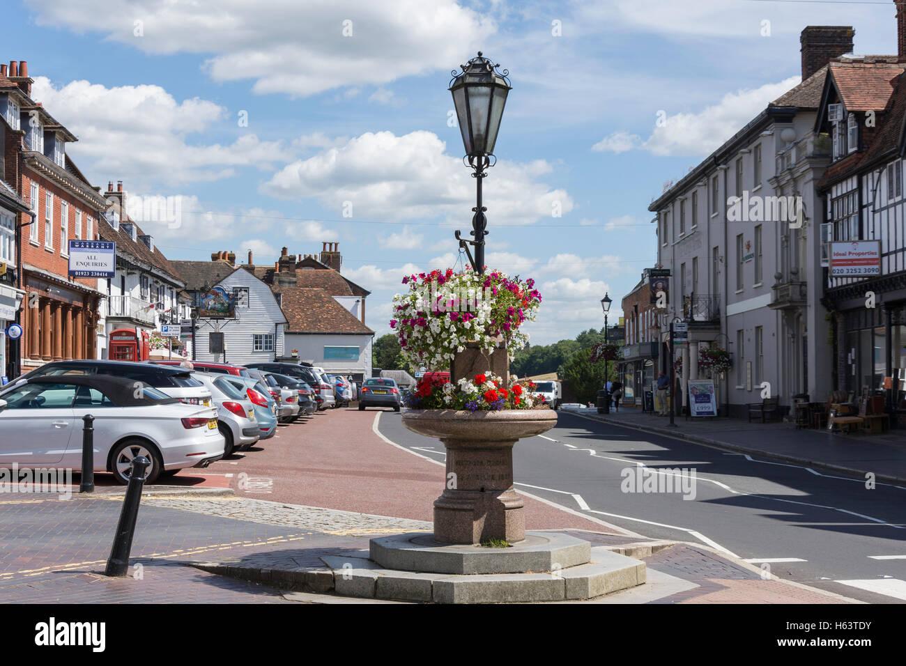 Market Square, Westerham, Kent, England, United Kingdom - Stock Image