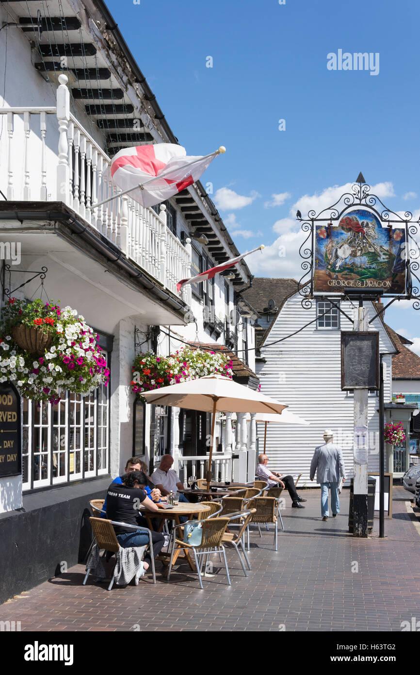 The George & Dragon Pub, Market Square, Westerham, Kent, England, United Kingdom - Stock Image