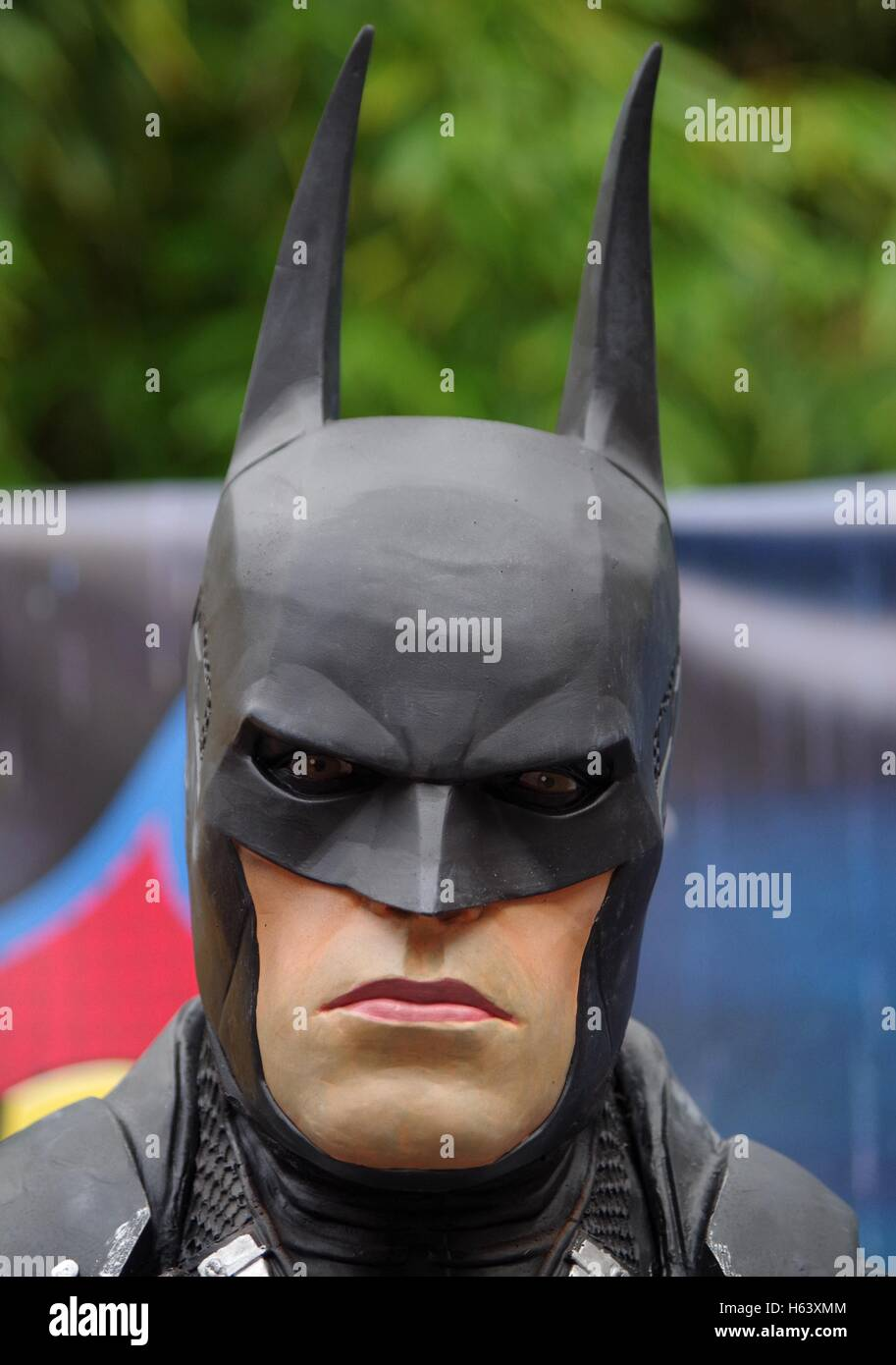 batman figure costume full size realistic - Stock Image