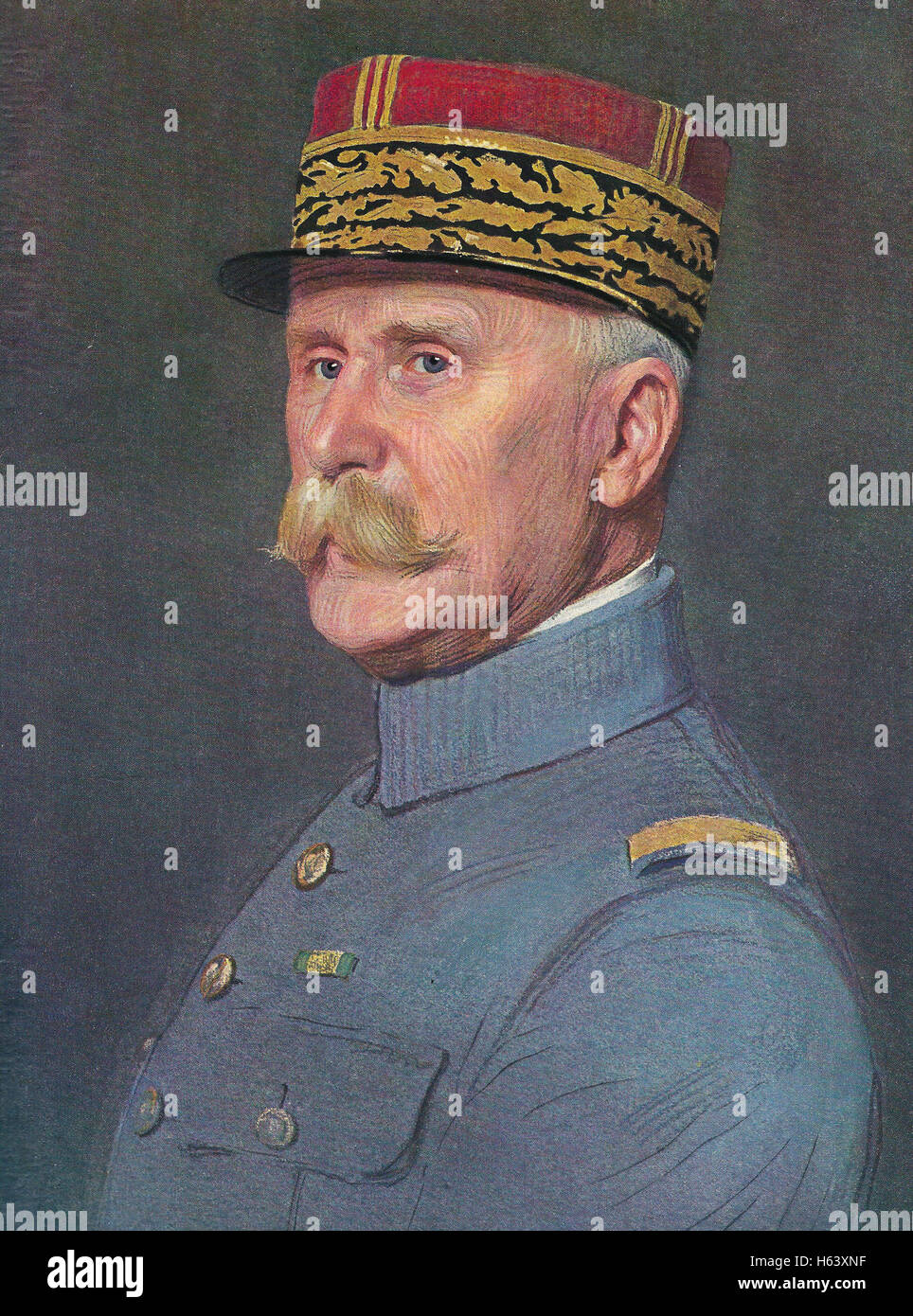 PHILIPPE PETAIN (1856-1951) French General in 1926 painted by Marcel Baschet - Stock Image