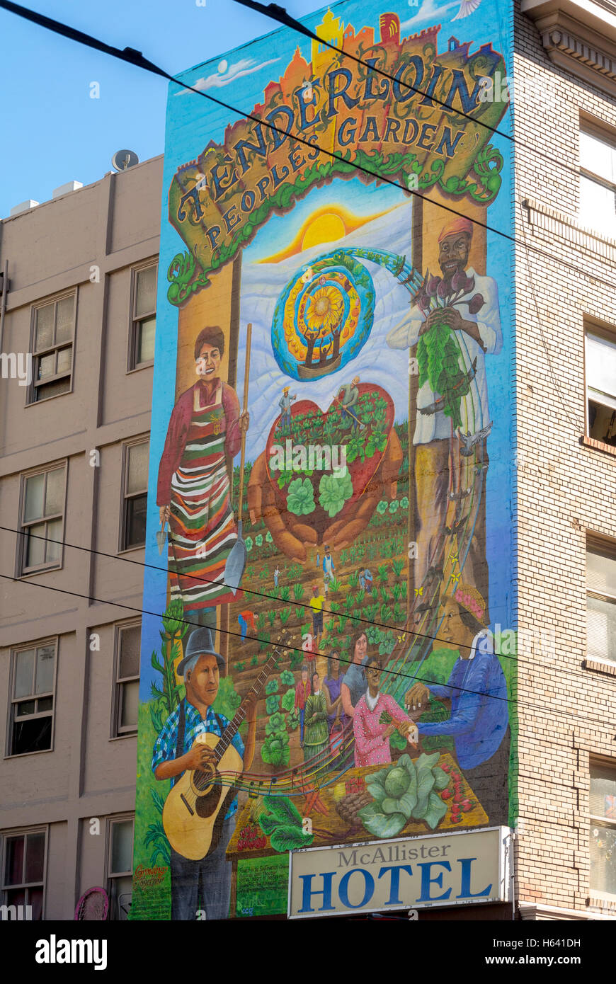 San Francisco Ca Usa Street Art Public Wall Mural Painting Stock Photo Alamy