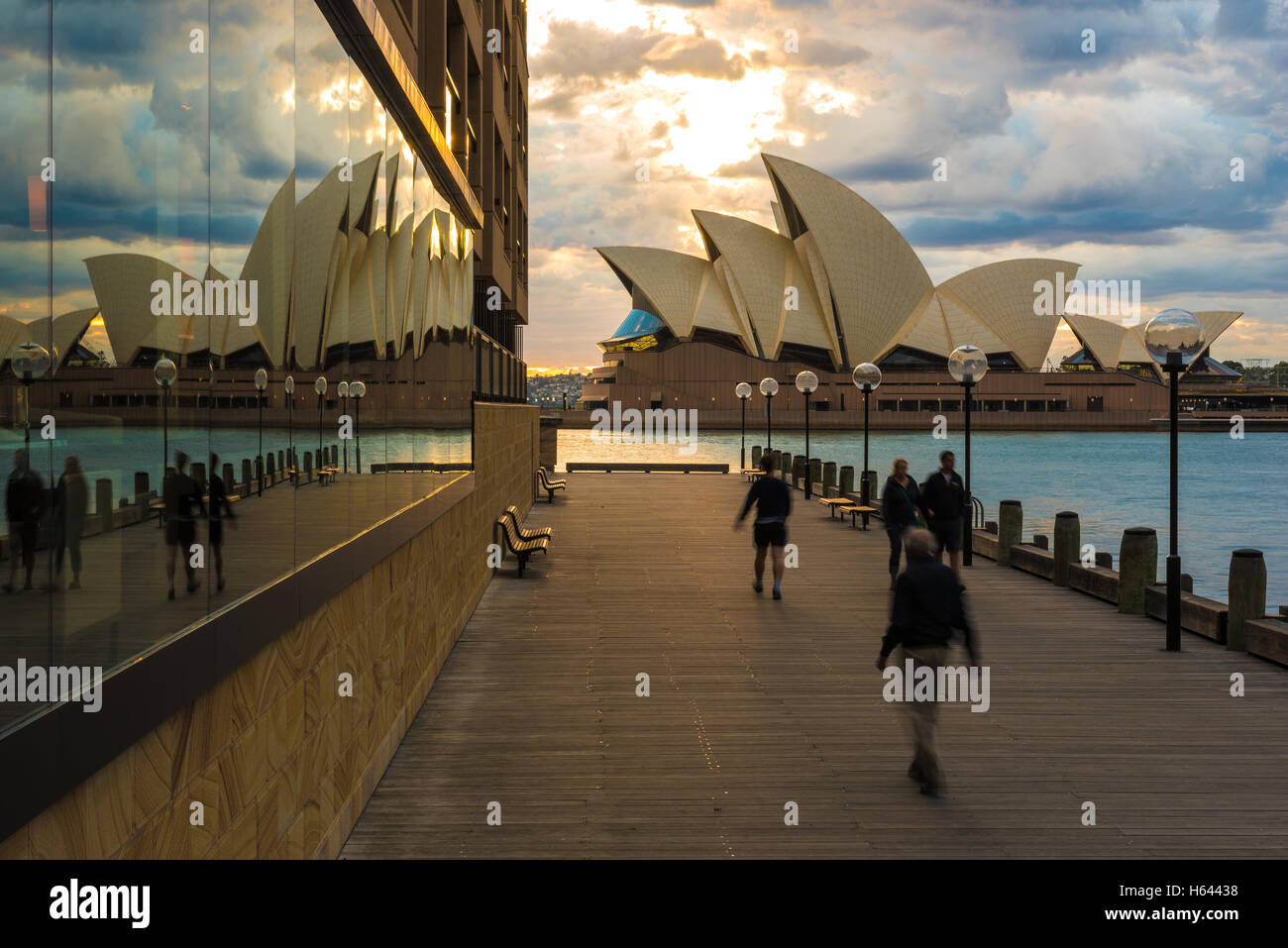 Sydney Opera house reflection - Stock Image