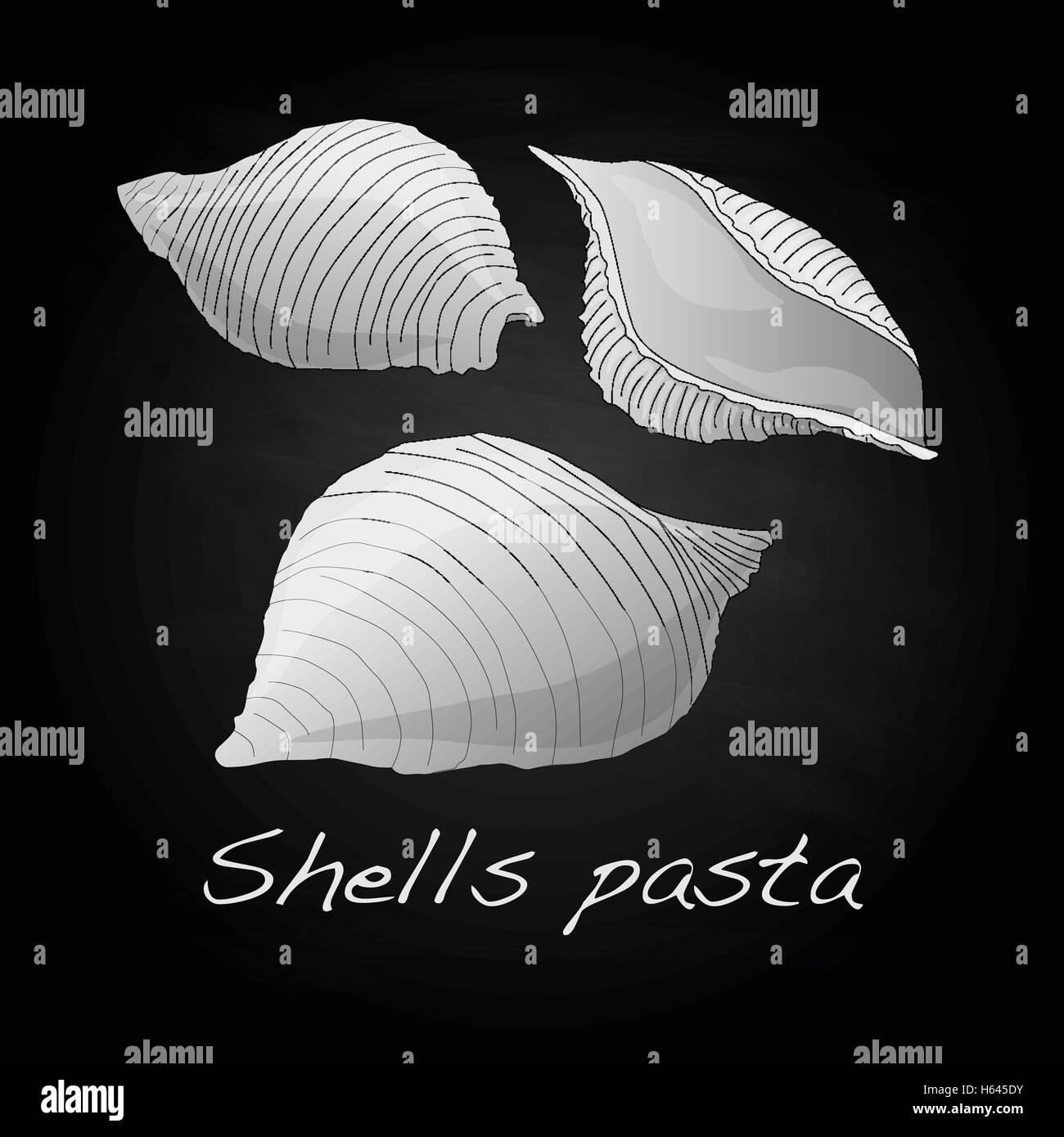 """Pasta - Conchiglioni """"Shell Pasta"""" vector isolated Stock Vector"""