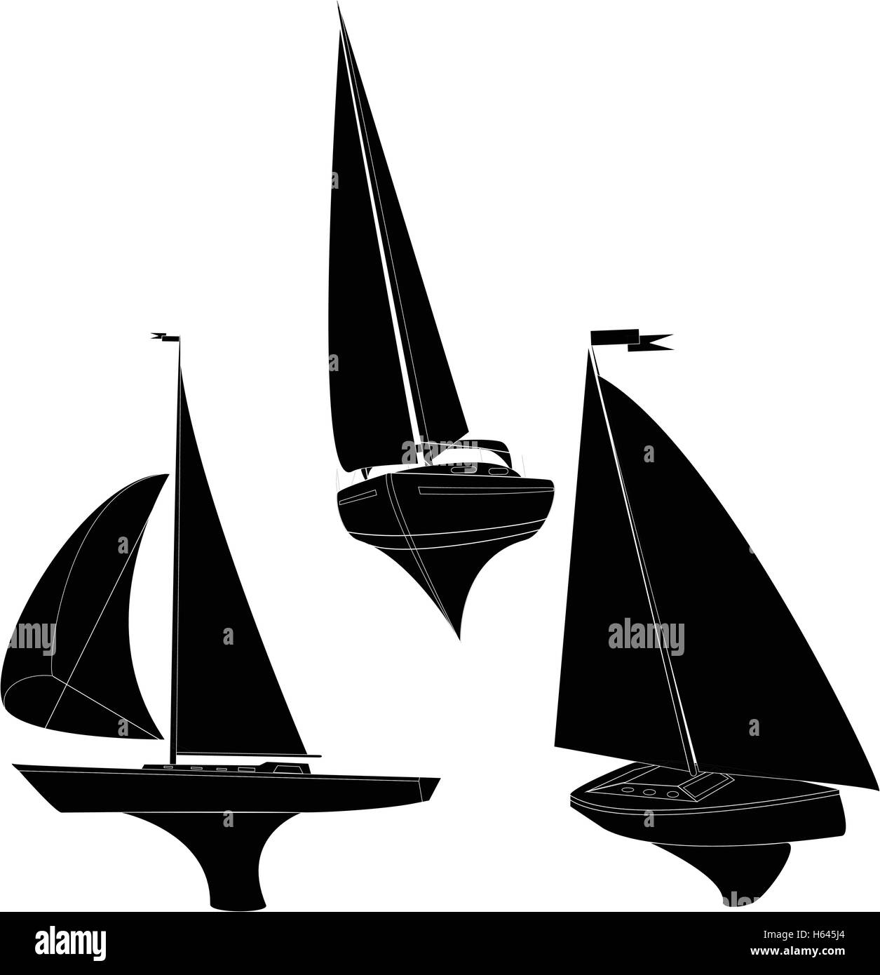 yacht vector illustration artvork Stock Vector